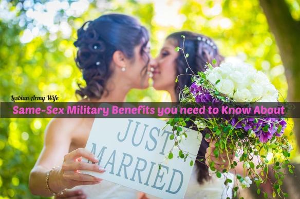 lesbians military wedding benefits spouses