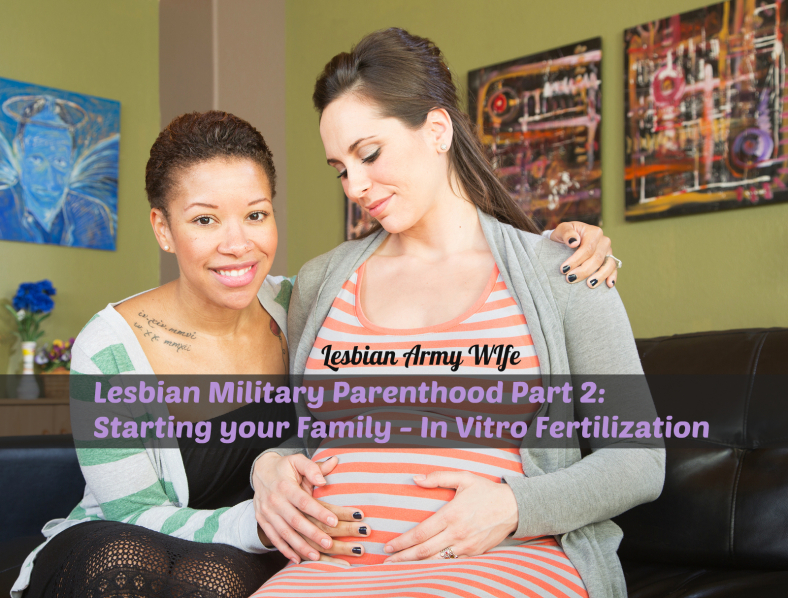 Smiling expecting mixed lesbian couple sitting together